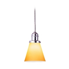 Hudson Valley Lighting Mini-Pendant Light with Amber Glass 3102-SN-505A