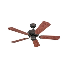 Ceiling Fan Without Light in Roman Bronze Finish
