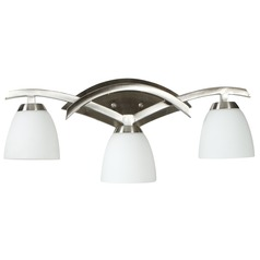 Jeremiah Viewpoint Brushed Satin Nickel Bathroom Light