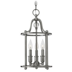 Hinkley Lighting Elaine Polished Antique Nickel Pendant Light