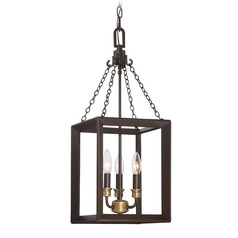 Quoizel Lighting Brook Hall Western Bronze Mini-Pendant Light