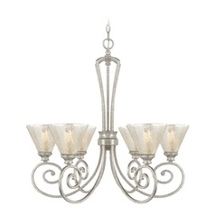 Mercury Glass Chandelier Silver Capital Lighting