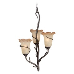Monterey Autumn Patina Mini-Chandelier by Vaxcel Lighting