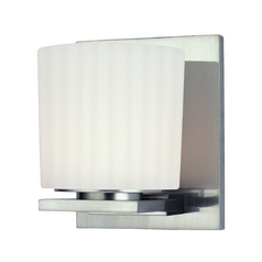 Modern Sconce with White Glass in Old Bronze Finish