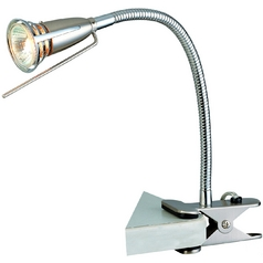 Lite Source Lighting Seeker Polished Steel Clamp Desk Lamp