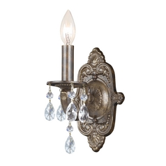 Crystal Sconce Wall Light in Venetian Bronze Finish
