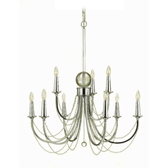 AF Lighting Shelby 9-Light Chandelier in Chrome