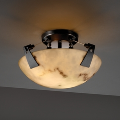 Justice Design Group Lumenaria Collection Semi-Flushmount Light