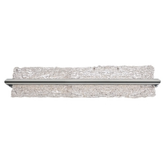 Vetri Brushed Aluminum LED Bathroom Light - Vertical or Horizontal Mounting