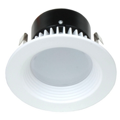 LED Retrofit White Baffle Trim for 4-Inch Recessed Cans