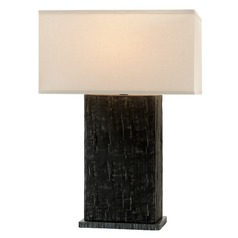 Troy Lighting La Brea Anthracite Table Lamp with Rectangle Shade