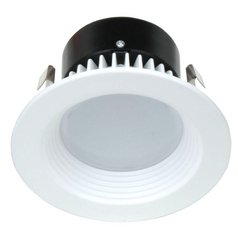 LED Retrofit Trim with White Baffle for 4-Inch Recessed Cans 3000K 700 Lumens