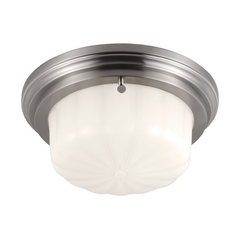 Feiss Lighting Portia Brushed Steel Flushmount Light