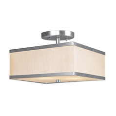 Livex Lighting Park Ridge Brushed Nickel Semi-Flushmount Light