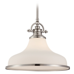 Quoizel Grant Brushed Nickel Pendant Light