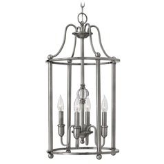 Hinkley Lighting Elaine Polished Antique Nickel Chandelier