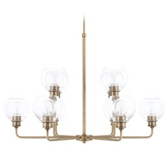 Capital Lighting Mid-Century Aged Brass Chandelier