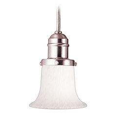 Hudson Valley Lighting Mini-Pendant Light with White Glass 3102-SN-7200