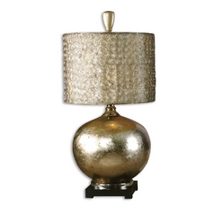 Table Lamp in Antique Silver / Champagne Finish