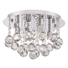 Quoizel Lighting Bordeaux Polished Chrome Flushmount Light
