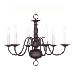Livex Lighting Williamsburg Bronze Chandelier