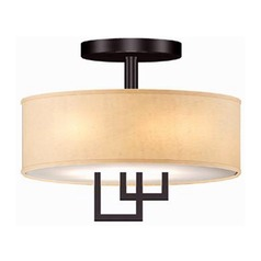 Lite Source Adalyn Dark Bronze Semi-Flushmount Light
