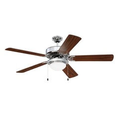 Craftmade Lighting Pro Energy Star 209 Chrome LED Ceiling Fan with Light