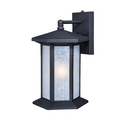 Halsted Textured Black Outdoor Wall Light by Vaxcel Lighting