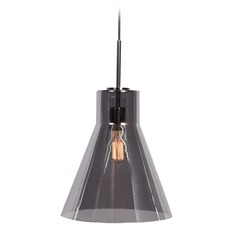 Access Lighting Simplicite Black Chrome Pendant Light with Conical Shade