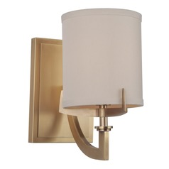 Craftmade Vintage Brass Sconce with Ecru Linen Shade