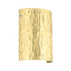 Modern Sconce Wall Light Gold Glass Satin Nickel by Besa Lighting