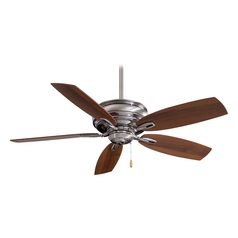 54-Inch Ceiling Fan Without Light in Pewter Finish
