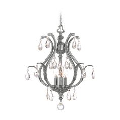 Crystal Pendant Light in Pewter Finish