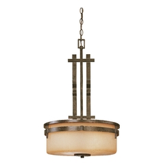 Dolan Designs Three-Light Pendant with Omni Glass 2864-74