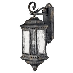 Outdoor Wall Light with Clear Glass in Black Granite Finish