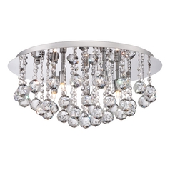 Quoizel Bordeaux Polished Chrome Flushmount Light