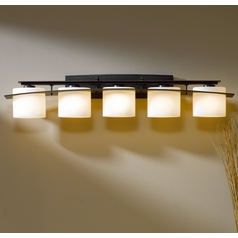 Hubbardton Forge Lighting Ellipse Dark Smoke Bathroom Light