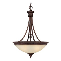 Capital Lighting Hill House Burnished Bronze Pendant Light with Bowl / Dome Shade