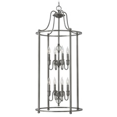 Hinkley Elaine 8-Light Chandelier in Polished Antique Nickel