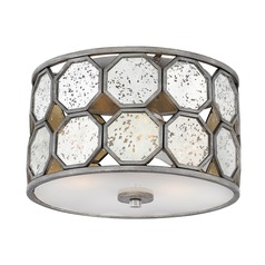 Art Deco Flushmount Light Silver Lara by Hinkley Lighting