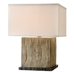 Troy Lighting La Brea Sandstone Table Lamp with Square Shade