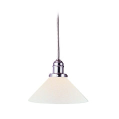 Hudson Valley Lighting Mini-Pendant Light with White Glass 3102-SN-M9