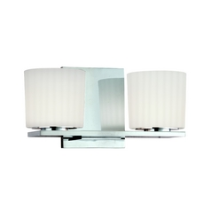 Hudson Valley Lighting Modern Bathroom Light with White Glass in Polished Chrome Finish 7742-PC