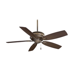 54-Inch Ceiling Fan Without Light in White Finish