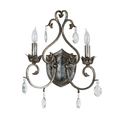 Sconce Wall Light in Weathered Silver Finish