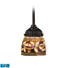 Elk Lighting Mix-N-Match Tiffany Bronze LED Mini-Pendant Light with Bowl / Dome Shade
