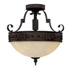 Capital Lighting River Crest Rustic Iron Semi-Flushmount Light