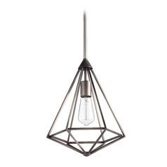Quorum Lighting Bennett Antique Silver Pendant Light
