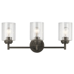 Seeded Glass Bathroom Light Olde Bronze Winslow by Kichler Lighting