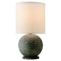 Troy Lighting La Brea Limestone Table Lamp with Cylindrical Shade